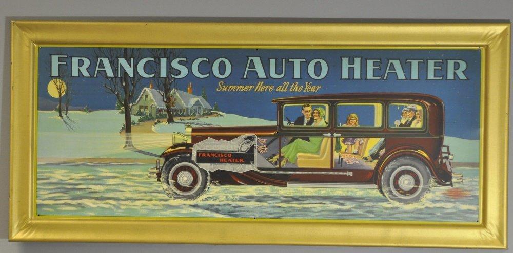 FRANCISCO AUTO HEATER SIGN