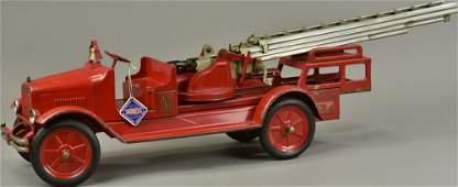 BUDDY 'L' AERIAL FIRE TRUCK