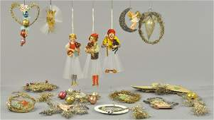 PAPER TINSEL AND SPUN GLASS ORNAMENTS