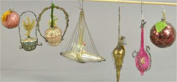 SEVEN WIRE WRAP CHRISTMAS ORNAMENTS