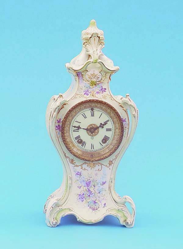 505: Ansonia Royal Bonn China Clock