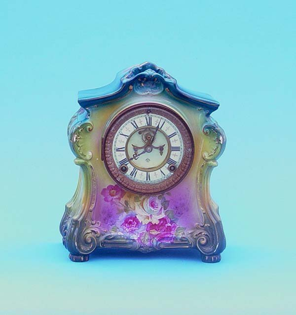 506: Ansonia Royal Bonn China Clock