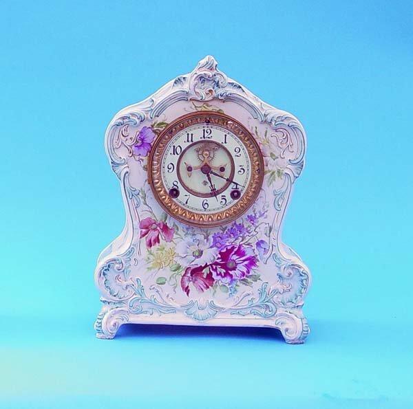 507: Ansonia Royal Bonn China Clock