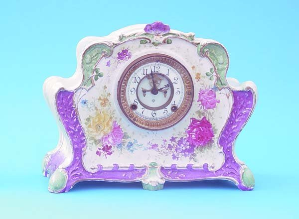 508: Ansonia Royal Bonn China Clock
