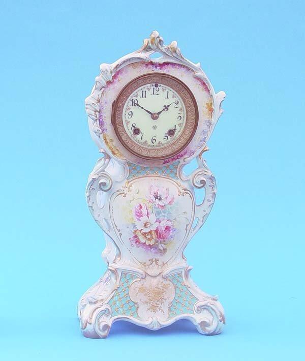 509: Ansonia Royal Bonn China Clock