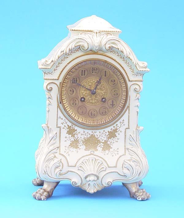 513: French Porcelain Japy Freres Mantel Clock