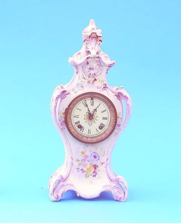 515: Ansonia China Mantel Clock
