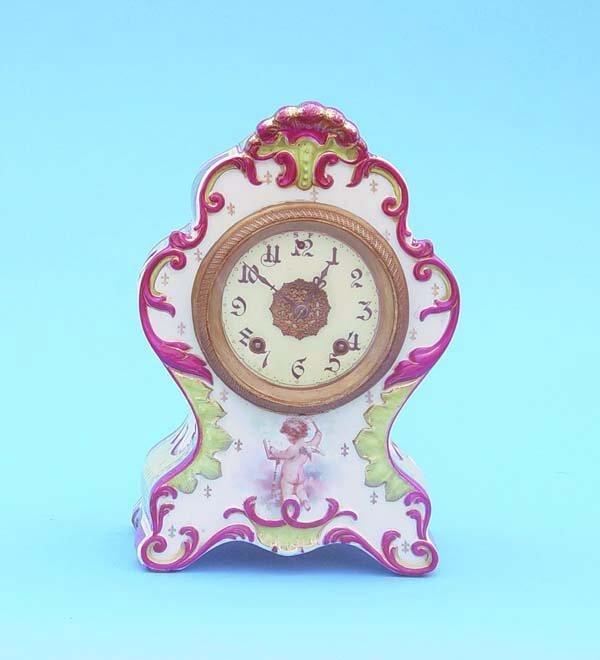 519: Royal Vienna Beehive Trademark China Clock