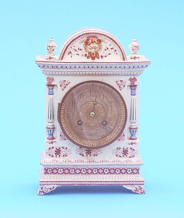 522: Hand painted Longwry China Mantel Clock