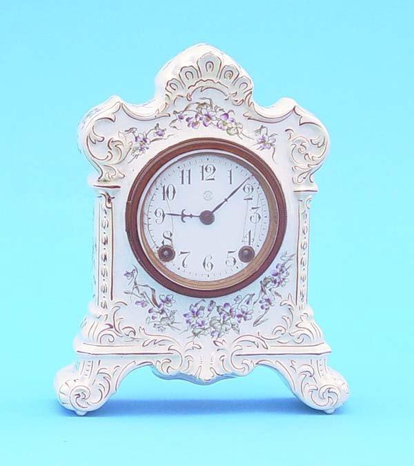 524: New Haven China Mantel Clock