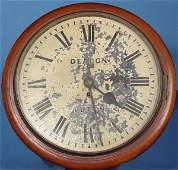 748: Big English Fusee Dial Wall Clock