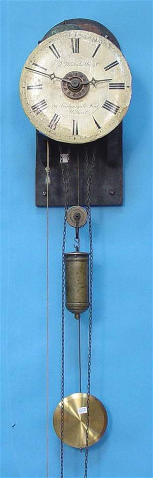 Early German Wag On Wall Clock