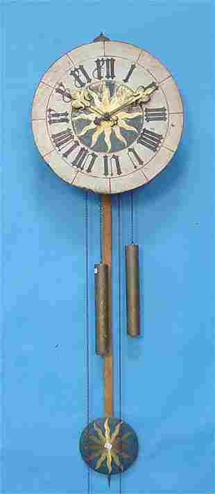 French Morbier Painted Wall Clock