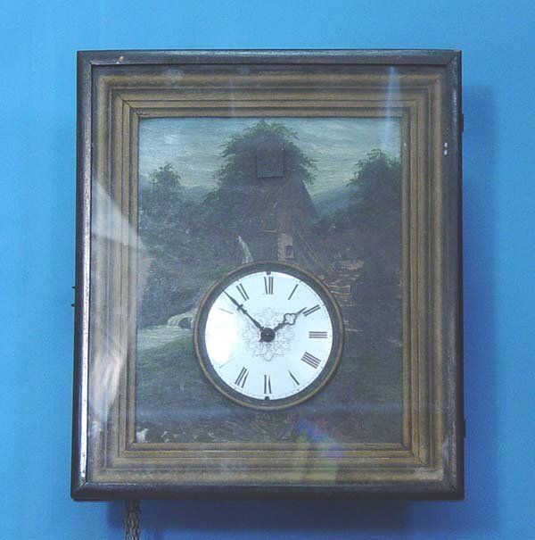 Unusual Early Picture Frame Cuckoo Clock