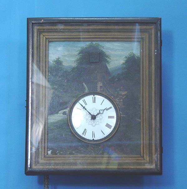 768: Unusual Early Picture Frame Cuckoo Clock