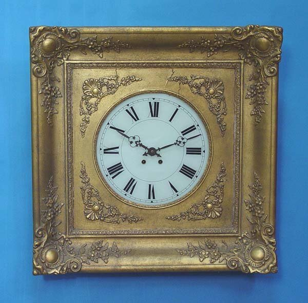 770: French Gilt Picture Frame Wall Clock