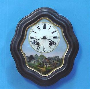 Reverse Painted Picture Frame Wall Clock