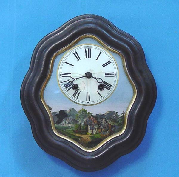 773: Reverse Painted Picture Frame Wall Clock