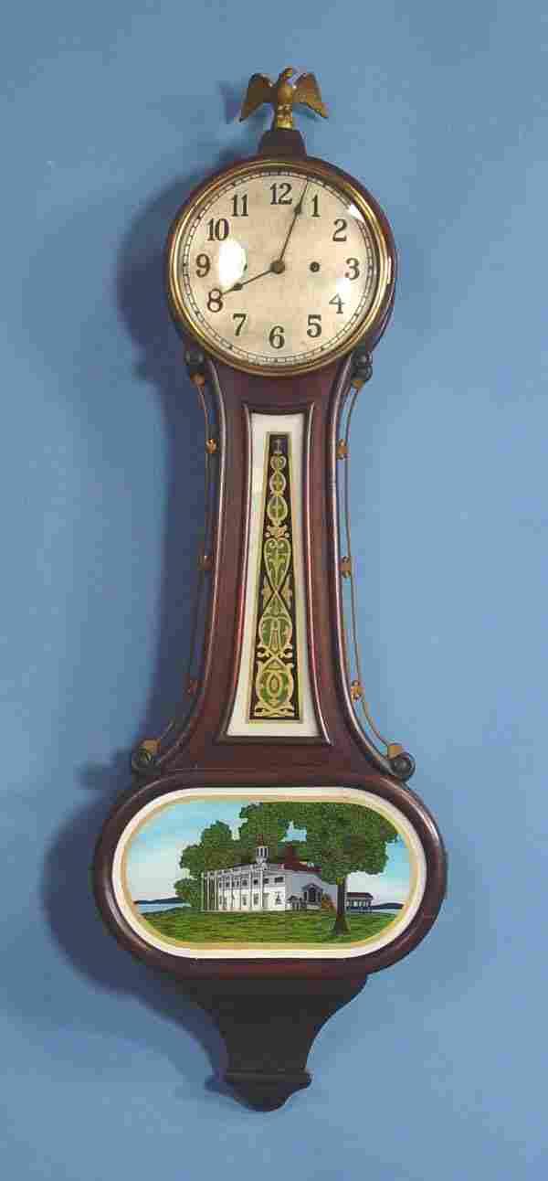 New Haven 30 Day Wilson Banjo Wall Clock