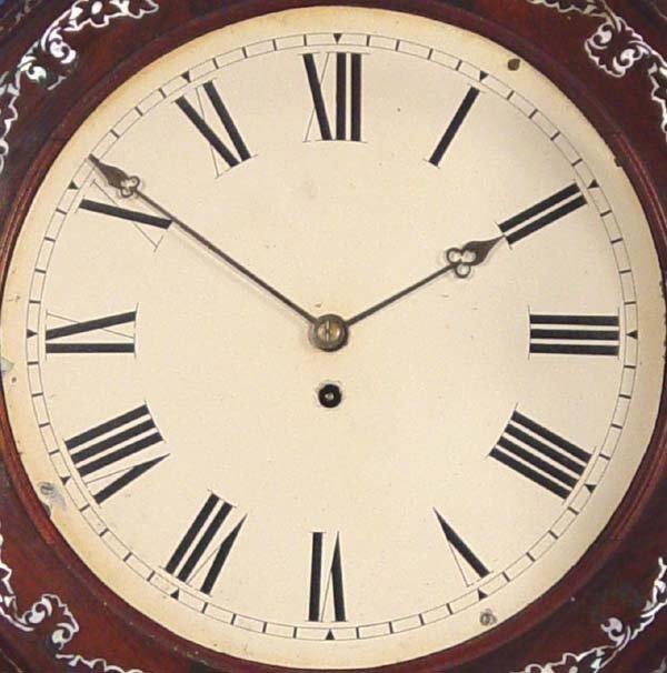 794: Ornate English Fusee Wall Clock - 2