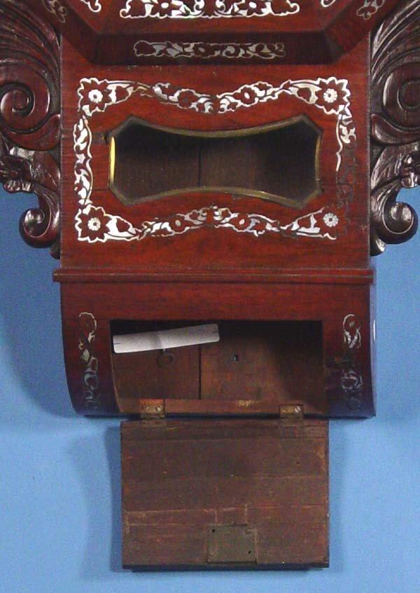 794: Ornate English Fusee Wall Clock - 3