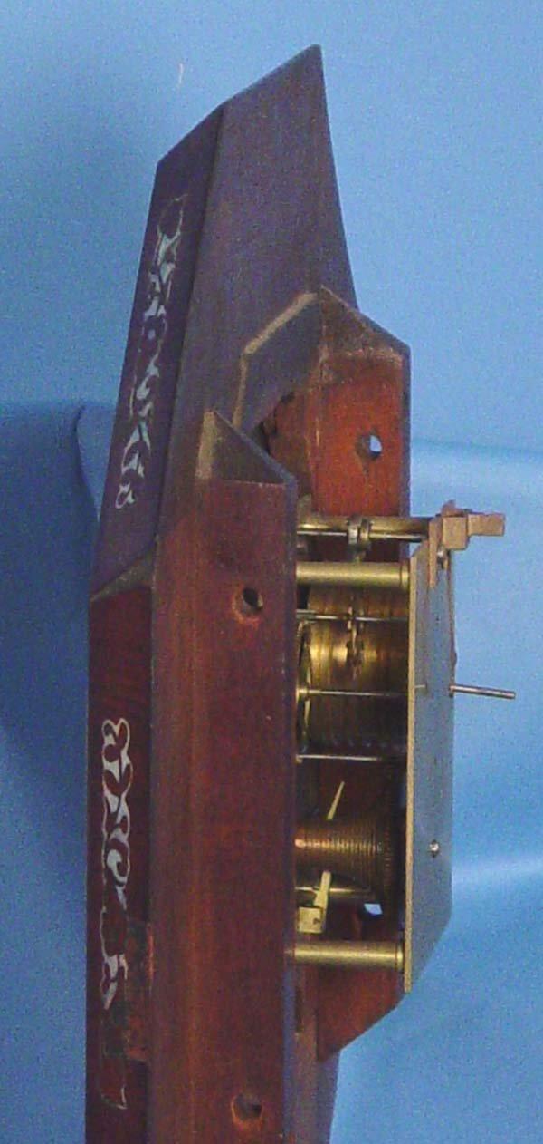 794: Ornate English Fusee Wall Clock - 4