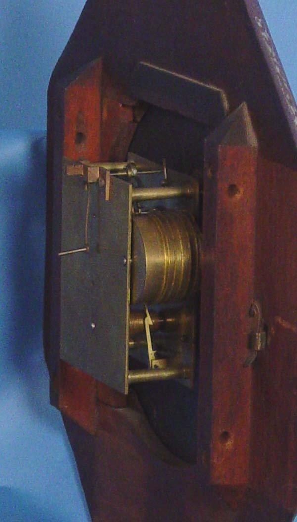 794: Ornate English Fusee Wall Clock - 5