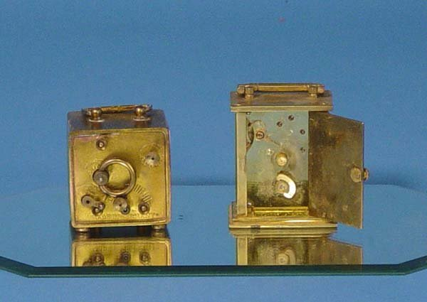 879: Two Small Carriage Clocks With Celluloid Case - 4