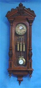 957: Vienna Three Weight All Engraved Wall Clock