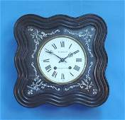 963: Inlaid French Picture Frame Wall Clock