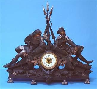 969: Massive Renaissance Japy Freres Statue Clock