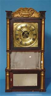 C & C L Ives Gilt Mahogany Shelf Clock