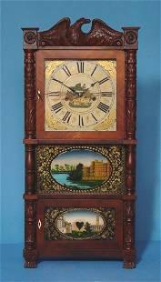 Carved Triple Decker Shelf Clock