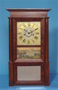 R & J B Terry Mahogany Empire Shelf Clock