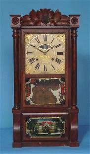Carved Birge & Mallory Empire Shelf Clock