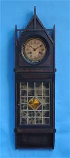 Unusual Geometric Painted Wall Clock