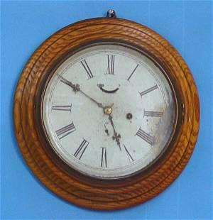 F. Kroeber Oak Gallery Clock