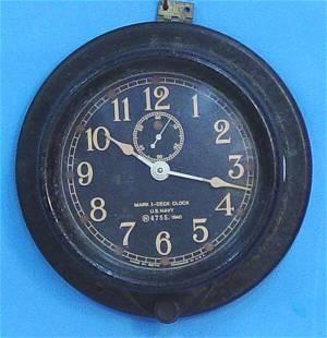 Seth Thomas US Navy Ships Clock
