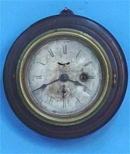 Small Wood Marine Timepiece Wall Clock
