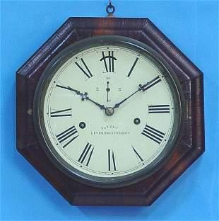 Wood Octagon Marine Wall Clock