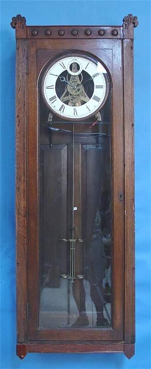 Large Oak Jewelers Regulator Clock