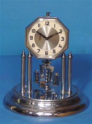 Art Deco Chrome 400 Day Mantel Clock