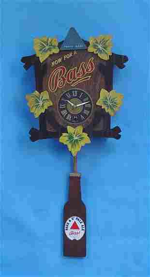 German Bass Beer Advertising Wall Clock