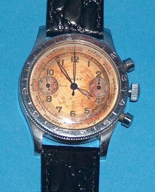 1477: Gallet 17 Jewel Chronograph Wrist Watch