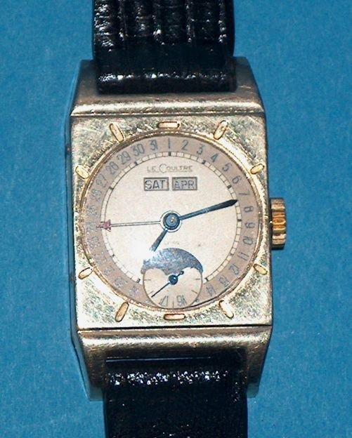 1485: LeCoultre Triple Date Moon Wrist Watch
