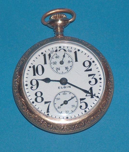 1486: Elgin 21 Jewel Father Time Winding Watch