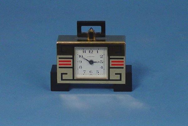 1492: Retro Deco Cartier Miniature Desk Clock
