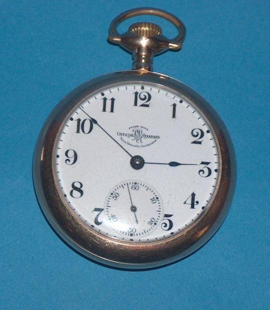 1493: Hamilton Ball 18 Size Grade 999 Pocket Watch