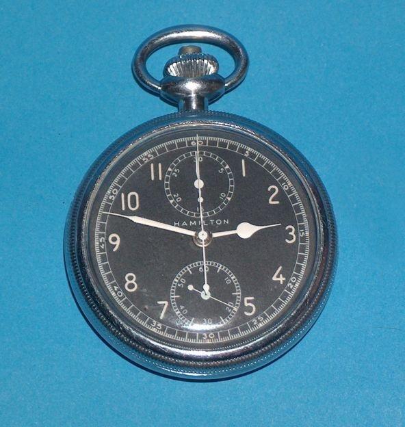 1495: Hamilton model 23 World War II chronograph