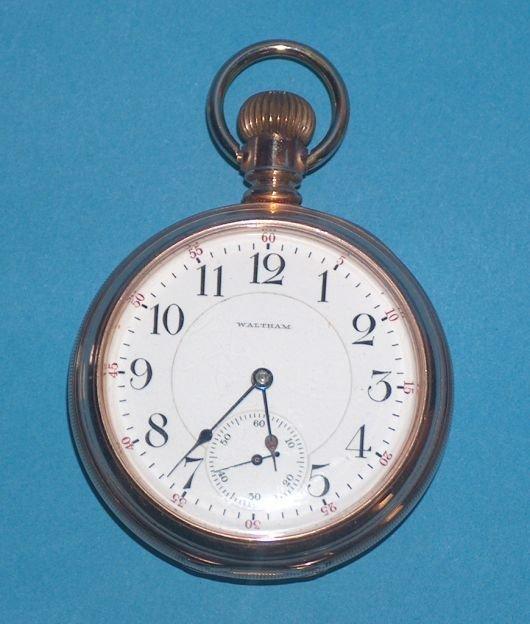 1498: Waltham 18 size 23 jewel  Vanguard Watch